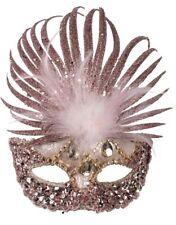 Ladies Rose Gold  Masquerade Ball Mardi Gras Carnival Fancy Dress Eye Mask