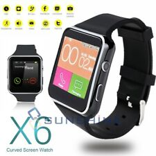 Smart Watch Black Wrist Touch Bluetooth Curve SIM X6 2020 For iPhone Android IOS