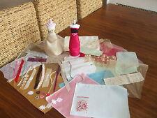 HARUMIKA OVERLOCKED FABRICS  ONLY bridal/evening/prom  35plus items.