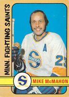 1972-73 O-Pee-Chee #305 Mike McMahon WHA Minnesota Fighting Saints