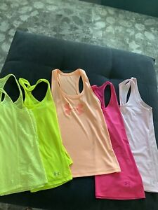 Under Armour Womens Workout Yoga Tank Top Size Small Semi-fitted Lot of 5