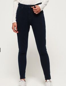 Superdry Womens Superflex Skinny High Waisted Jeans Blue/Black size 6-8 W25 L32