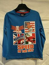 Disney Planes Boys T Shirt Top Long Sleeve Tee Shirt Ages 2 3 4 5 6 7 8 Years 3-4 Years Navy