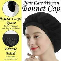 Ladies Silk Night Sleep Cap Hair Bonnet Hat Head Cover Satin Turban Wrap Band