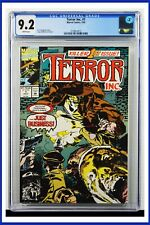 Terror Inc. #1 CGC Graded 9.2 Marvel July 1992 White Pages Comic Book