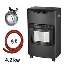 New 4.2Kw Portable Home Heater Butane Fire Calor Gas Cabinet With Regulator Hose