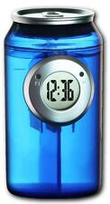 H2O water powered Can Shaped LCD Clock
