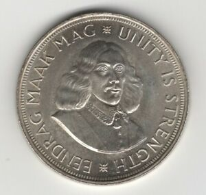 LARGE 1964 SOUTH AFRICA SILVER 50 CENTS UNCIRCULATED