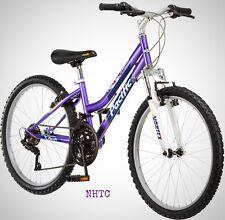 "Pacific Evolution 24"" Inch Girl's Mountain Bike 18-Speed Steel Frame Purple New"