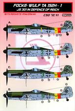 KORA Decals 1/72 FOCKE WULF Ta-152H-1 JG 301 REICH DEFENCE with Resin Parts