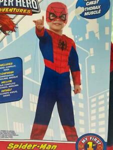Rubie's Toddler Spiderman Muscle Chest Halloween Costume My First Marvels
