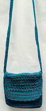 Handmade Crochet Handbag fully lined Emerald Green beautifully Made