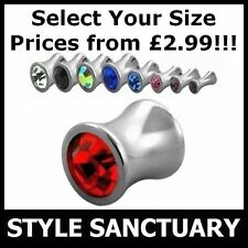 Cubic Zirconia Stainless Steel Body Jewellery