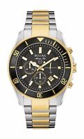 Bulova Marine Star Men's 98B249 Chronograph Black Dial Two-Tone 43mm Watch