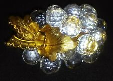 SWAROVSKI CRYSTAL COLLECTIBLE LARGE GRAPES GOLD STEM/LEAVES RETIRED # 7550