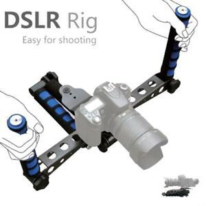 Shoulder Mount Camera Stabilizer Dslr Rig Support Double Handgrip Steady Holder