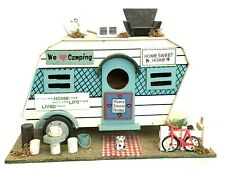 New ListingRetro Camper Birdhouse Camping Trailer Home Sweet Home Wood Bird House Bike