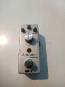 T-CUBE ANDOER AD-6 PEDAL ANALOG DELAY  pedale effetto ECO X CHITARRA,nuovo!