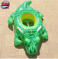 Crocodile baby toddler kids Swimming inflatable pool float raft Summer Toy 1