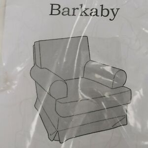 New Ikea Barkaby Armchair Slip Cover No 0314 White 100% Cotton Easy Fit 173392