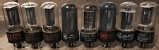 Lot Of 8 Assorted 25L6GT Tubes All Tested Good