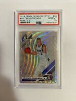 Kristaps Porzingis PSA 10 2019 Panini Optic Fanatics Mavericks Gem Mint