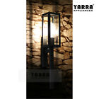 Outdoor Wall Sconce Light Square Lantern Steel Garden Porch Yard Lamp Black
