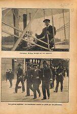 Aviateur Wilbur Wright Aircraft Flyer III Hunaudières le Mans 1912 ILLUSTRATION