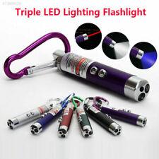 Pointeur laser 3 en 1 lampe de poche - Led rouge Jouet Lampe Torche Porte Clé