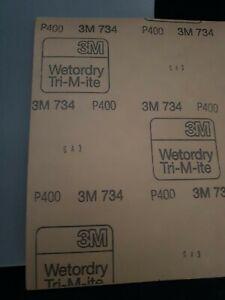 3M 734  SANDING PAPER SANDPAPER SHEETS GRIT P400 x10 FREE P&P
