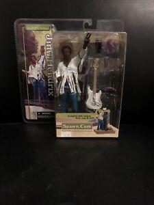 Jimi Hendrix Woodstock Action Figure - 2003 - McFarlane Toys (SEALED IN BOX)