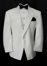 Rare Boys White Dinner Jacket Pleated Notch lapel 2 Button DJ TUXXMAN