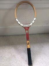 Vintage Spalding Pancho Gonzales Signature Model Photo Wooden Tennis Racquet