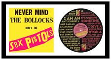 SEX PISTOLS - MEMORABILIA - ANARCHY IN THE UK & COVER - Vinyl Record Art -  Gift