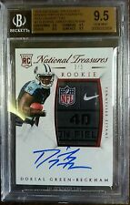 2015 National Treasures Dorial Green Beckham Auto NFL Logo Patch RC /3 BGS 9.5