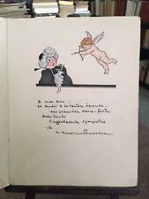 Heures galantes sur un vieux cadran. Dessin original de Roussau. E.O. 1927