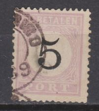 Port 2 type 3 geb Suriname portzegel due stamp 1886