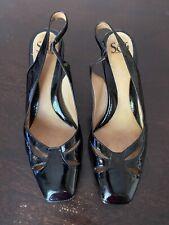 """Sofft 9M black leather slingbacks womens ladies shoes heels pumps 3"""" heels"""