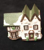 Christmas Village Vintage Manor House Old English Tudor Porcelain X-mas C-6