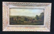 Antique Oil on Canvas Landscape Painting Signed Spencer
