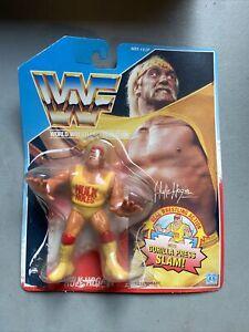 WWF 1990 HASBRO HULK HOGAN SERIES 1 ACTION FIGURE WWE GORILLA PRESS SLAM! As Is