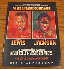 1994 World Heavyweight Championship Lennox Lewis Phil Jackson Program Boxing
