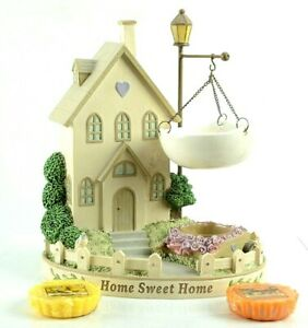 Yankee Candle Wax Tart Warmer Cottage House Home Sweet Home w 2 Tarts Nice!