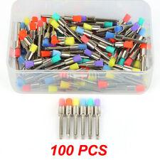 100 piezas Pestillo de nylon color mezclado plana Pulido Pulidor Prophy Tazón Cepillo Dental