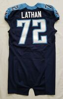 #72 Terrell Lathan of Tennessee Titans NFL Locker Room Game Issued Jersey