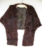 Vintage Women's Mink Fur Stole Wrap Shrug Evening Cape Red Brown Unmarked Sz M?