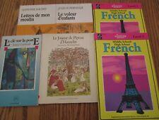 French Workbooks and Readers (Le voleur d'enfants/Lettres de mon moulin + more)
