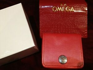 OMEGA WATCH REPLACEMENT BOX RED & SILVER Seamaster OR Speedmaster  NO RESERVE