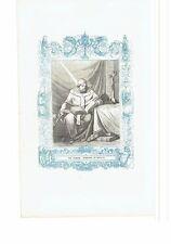 1852 Grabado, San Leandro Arzobispo de Sevilla