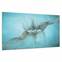Tempered Glass Photo Print Wall Art Picture Love Kiss Abstract Prizma GWA0361